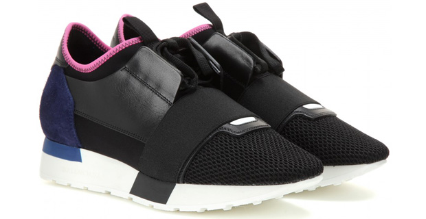 Balenciaga Race Runner sneakers pink blue