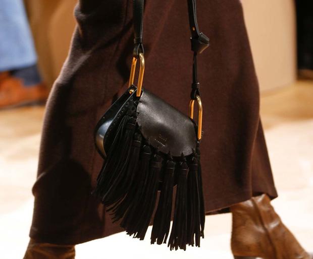 Chloé Hudson bag black runway fall 2015