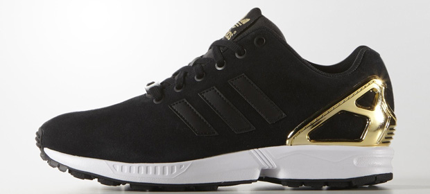 Adidas ZX flux sneakers gold