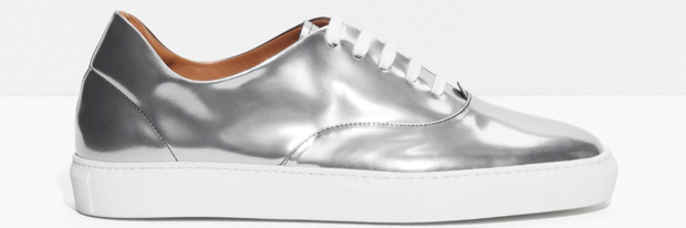 And Other Stories silver sneakers