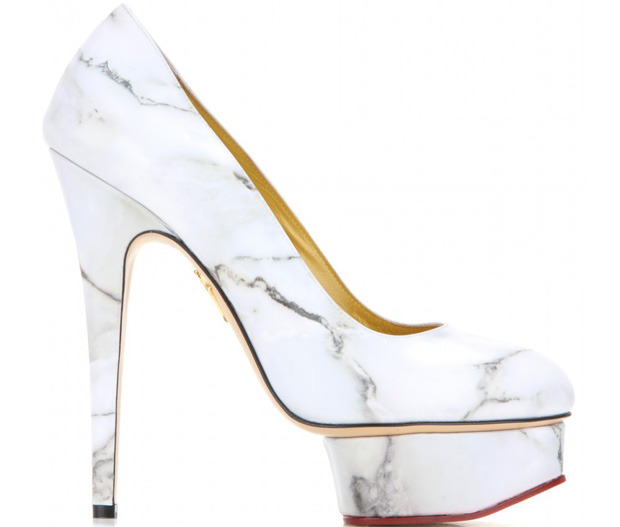 Charlotte Olympia Dolly marble pumps