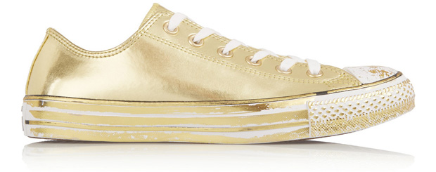 Converse All Stars chrome gold