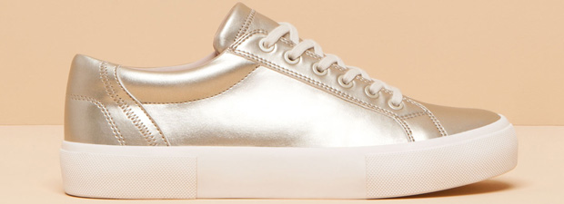 Pull and Bear gold sneakers