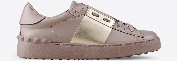 Valentino open sneakers pink gold