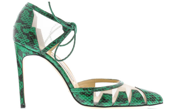 Bionda Castana Lana snake pumps green