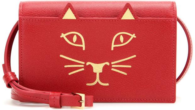 Charlotte Olympia Feline tas rood