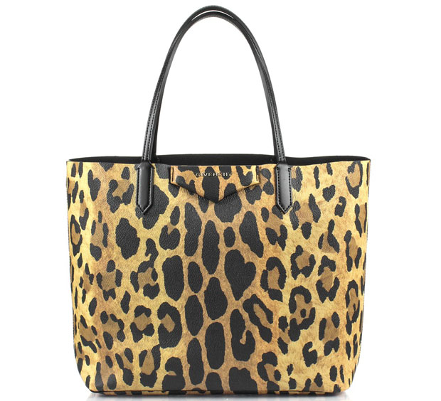 Givenchy cabas leopard small shopper