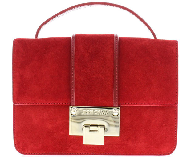 Jimmy Choo Rebel mini crossbody red