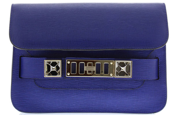 Proenza Schouler ps11 mini saffiano blue