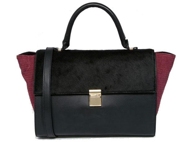 ASOS leather pony hair bag