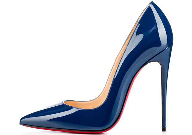 Christian Louboutin So Kate 120 patent blue