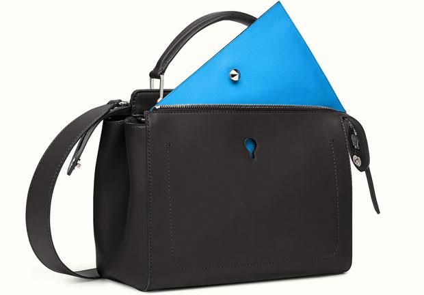 Fendi DotCom bag black blue