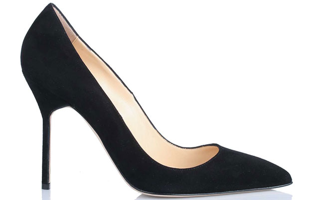 Manolo Blahnik BB 105 black suede pumps