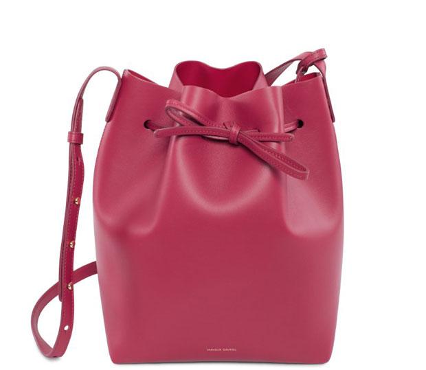 Mansur Gavriel Mini Mini bucket bag rococo pink