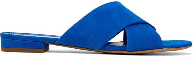 Mansur Gavriel schoenen suede blue