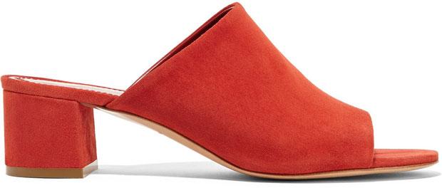 Mansur Gavriel schoenen suede rood