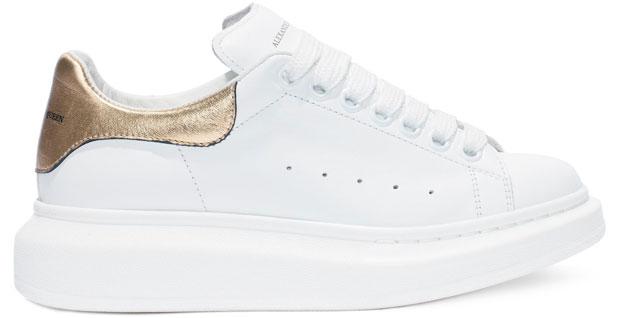 Alexander McQueen Oversized white sneakers