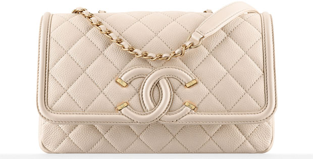 Chanel tassen ss 2016 light beige flap bag