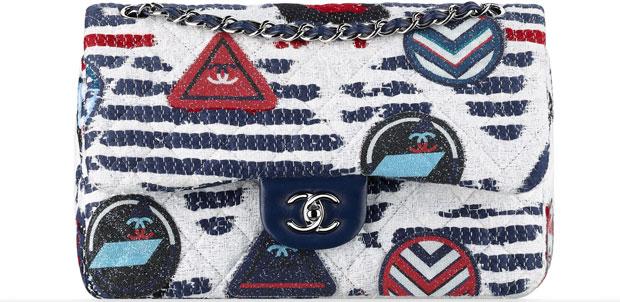 Chanel tassen ss 2016 tweed classic flap bag
