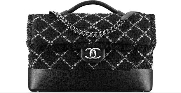 Chanel tassen ss 2016 tweed flap bag