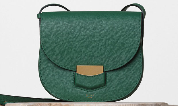 Celine Trotteur small grained forest green 176643ZMB.31LF