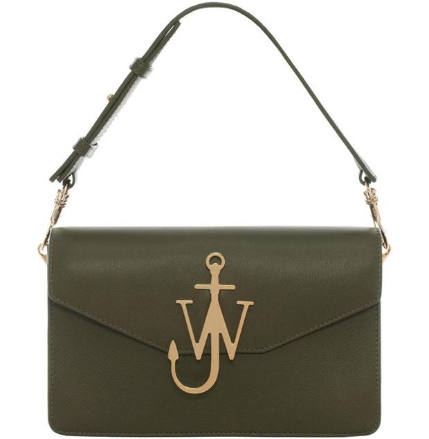 J.W. Anderson logo bag green