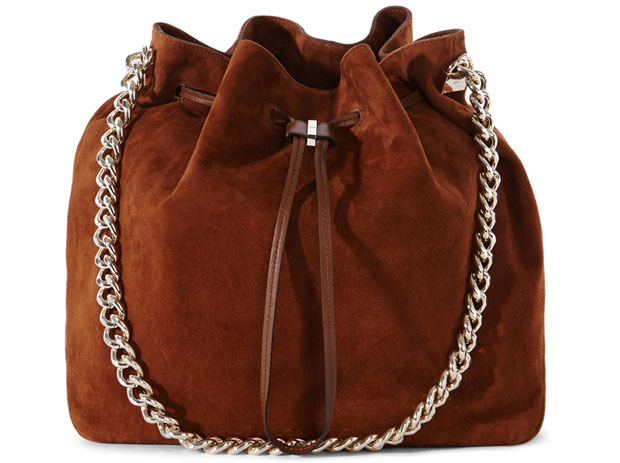 Karen Millen suede bucket bag