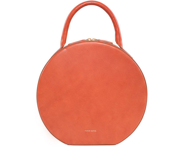 Mansur Gavriel Circle bag moss brandy