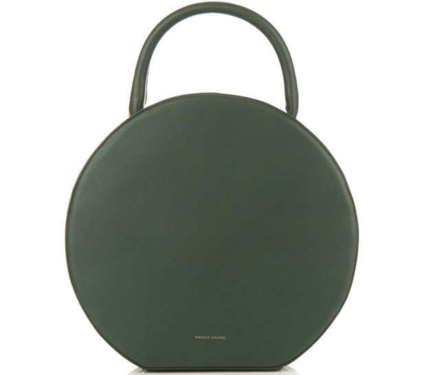 Mansur Gavriel Circle bag moss green