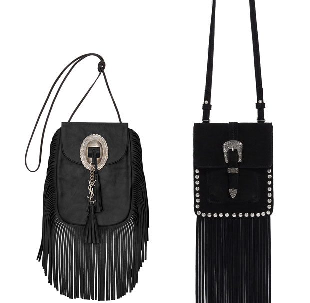 Saint Laurent fringe vs zara bag