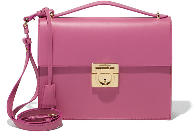 Salvatore Ferragamo medium Gancio pink