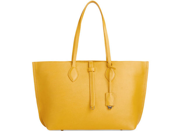 Whistles Regent Soft tote yellow