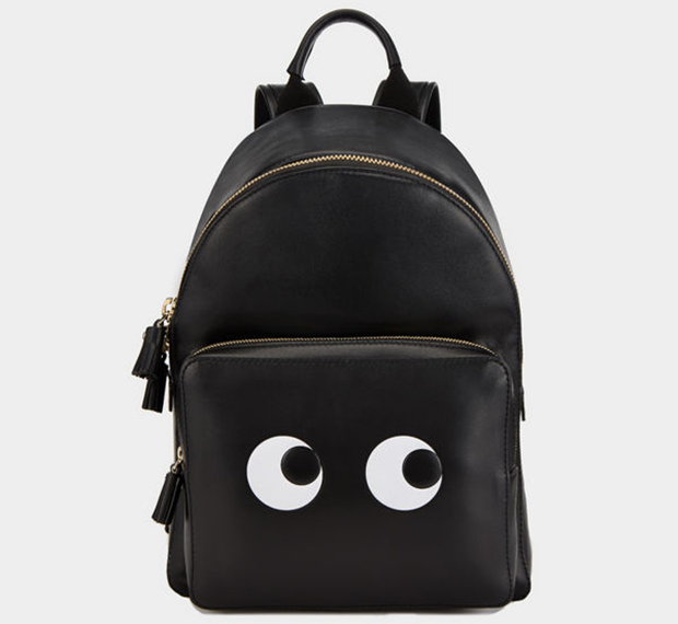 Anya Hindmarch Backpack mini Eyes Right black