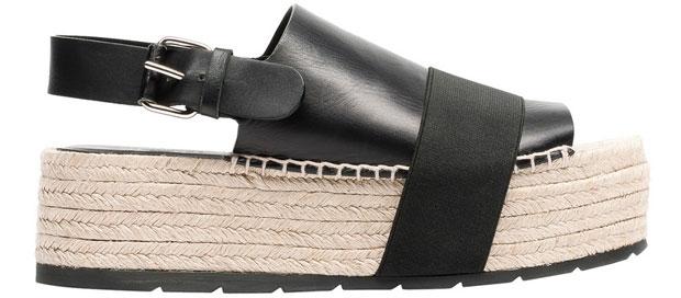 Balenciaga rope elastic platform sandals