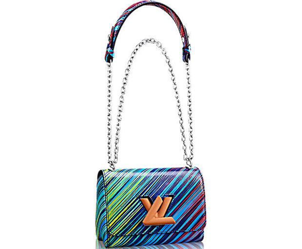Louis Vuitton Cruise 2017 Twist MM cuir épi blue