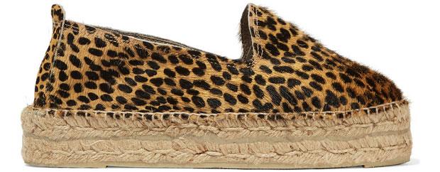 Manebi calf hair leopard espadrilles