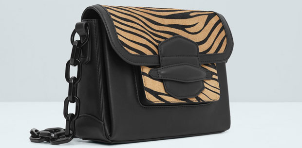 Mango crossbody tas tiger plastic chain