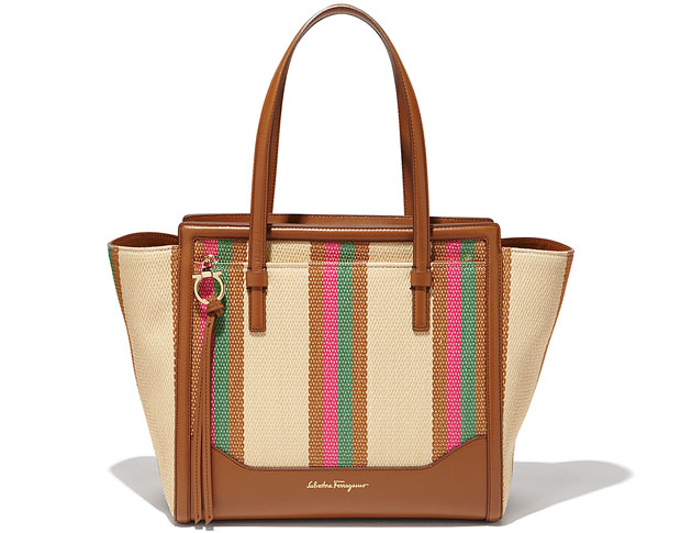 Salvatore Ferragamo medium tote straw