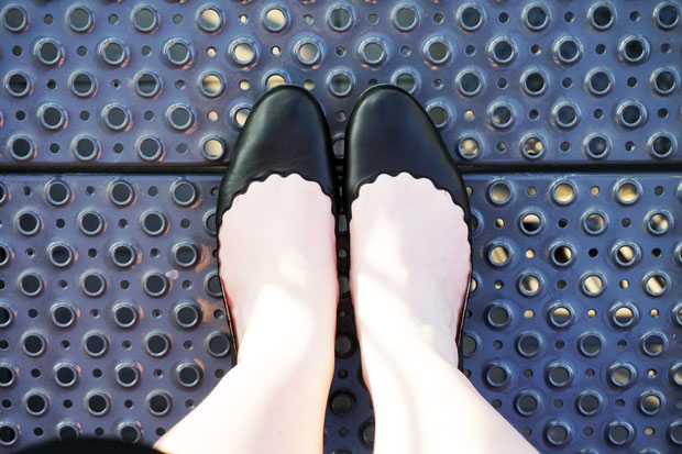 Chloé Lauren ballerina's zwart