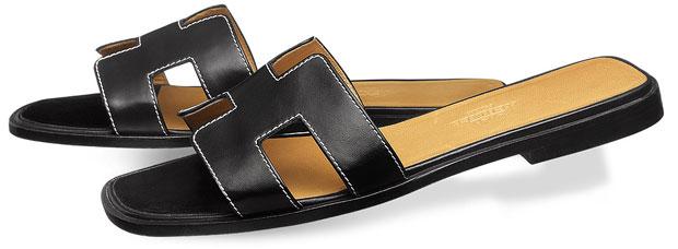 Hermes Oran sandalen black box