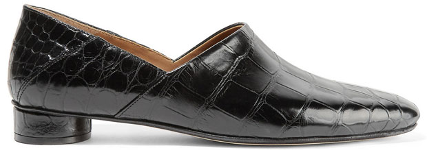 The Row Noelle loafers alligator