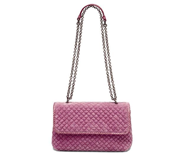 Bottega Veneta Olympia bag velvet pink