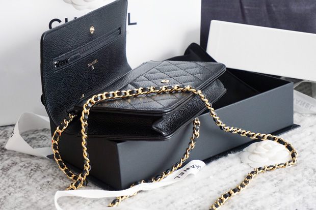 Chanel WOC Caviar black ghw unboxing