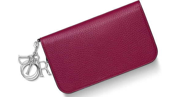 Dior Diorissimo medium voyageur taurillon cherry