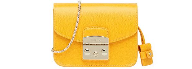 Furla Metropolis tas giallo yellow