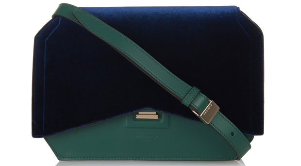 Givenchy Bow Cut bag velvet navy green