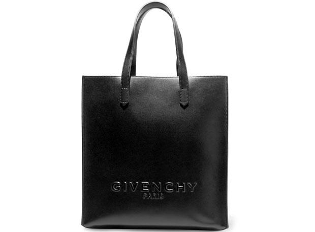 Givenchy logo leather shopper black