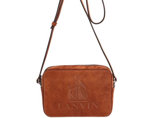 Lanvin suede logo bag