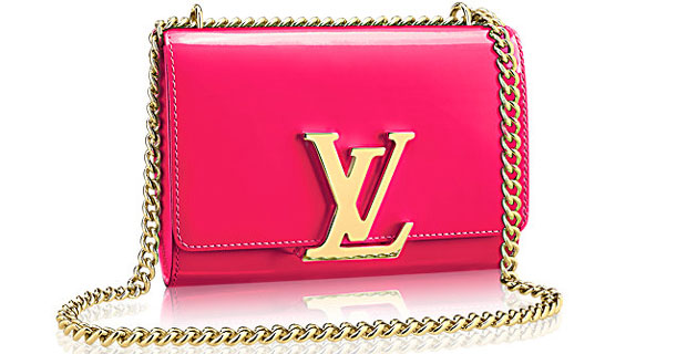 Louis Vuitton Chain Louise mm pink