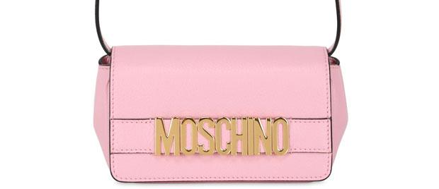Moschino logo bag pink